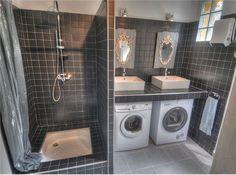 Раковина над стиральной машиной: особенности установки и 70 продуманных решений для функциональной ванной комнаты http://happymodern.ru/rakovina-nad-stiralnoj-mashinoj-foto/ Раковины над стиральными машинами на столешнице