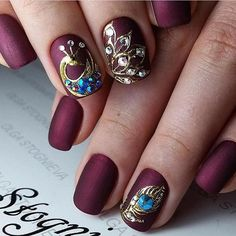 # Burgundy Nails Designs You Should Definitely Try in 2017 ★ See more: http://glaminati.com/burgundy-nails-designs/
