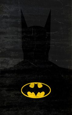 superhero minimalist posters: batman