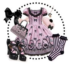 """Cinema Dolls Pink"" by potesauu ❤ liked on Polyvore featuring Forever 21"