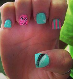 cute girly nails