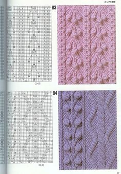 "Photo from album ""Узоры спицами on Yandex. Cable Knitting Patterns, Knitting Stiches, Knitting Charts, Lace Knitting, Knit Patterns, Crochet Stitches, Stitch Patterns, Crochet Cross, Crochet Yarn"