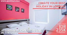 Create your best holiday in Lombok! Get the best offer and stay at many hotels with affordable prices!