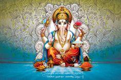 Ads Art Poster Wall decorative and Personalise Greeting cards Shri Ganesh, Ganesha Art, Lord Ganesha, Lord Shiva, Ganesha Pictures, Ganesh Images, Creative Poster Design, Creative Posters, Background Images Hd