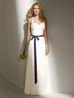 QueUsar.com: Vestido de Novia con Lazo Oscuro, sin Mangas, de S...