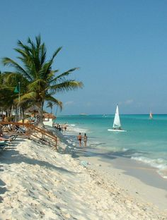 Gorgeous beach in Riviera Maya, Mexico