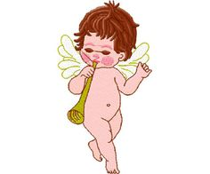 #embroidery #embronetto Embroidery Baby Designs 04: Angels 04