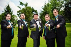 Groomsmen on a golf course. Golf course wedding. Phrene Exquisite Photography