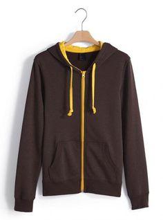 Brown Collision Energy Zipper Cardigan Sweatshirt$49.00