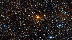 Meet UY Scuti, a bright red supergiant variable star that resides within the Scutum constellation, and is currently believed to be the largest star in the Milky Way galaxy, surpassing Betelgeuse, VY Canis Majoris, and NML Cygni. It is about 1,700 times larger than our Sun's radius and 21 billion times the volume.