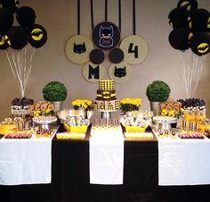 Festa personalizada com tema Batman - www.clakeka.blogspot.com