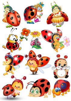 Ladybug Art, Ladybug Crafts, Cartoon Drawings, Cute Drawings, Farm Cartoon, Plus Size Art, Arts And Crafts, Paper Crafts, Baby Clip Art
