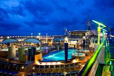Time for a night swim on Explorer of the Seas.