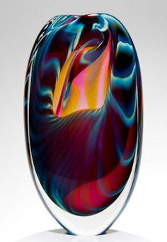 Peter Layton Studio Stained Glass Ornaments, Stained Glass Art, Fused Glass, Glass Artwork, Cool Artwork, Glass Paperweights, Glass Vase, Blown Glass Art, Glass Animals