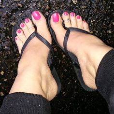 Follow IG @loveher_toes Sexy Pink Toes Wrinkled Soles Toe Rings In Rain !!! Perfect Feet For You • ❤@PerfectFeetForYou...