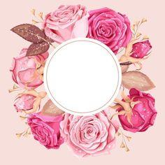 Flower Backgrounds, Wallpaper Backgrounds, Iphone Wallpaper, Framed Wallpaper, Flower Wallpaper, Png Floral, Instagram Highlight Icons, Floral Border, Flower Frame