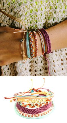 Stacking Pura Vida Bracelets gives an effortless bohemian look.