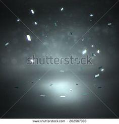 Studio backdrop with sparkling confetti. Vector illustration. - stock vector