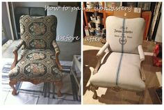 We bought a couple of antique chairs a couple of years ago at auction when a local antiques dealer went out of business. At the time, we had visions of opening a booth at an antique mall and planne…