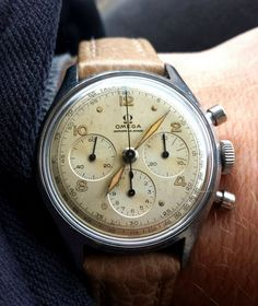 Vintage OMEGA Calibre 321 French Market Chronograph In Stainless Steel #timepiece