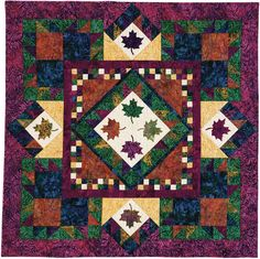 Challenging Quilt Pattern: Falling Leaves by Connie Kauffman in Quilters Newsletter June/July 2016.