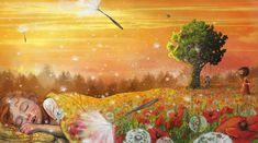 """Soon You'll be Sleeping"", Lisa Aisato, digital, 2016 Art And Illustration, Mellow Yellow, Four Seasons, Illustrators, Art For Kids, Fantasy Art, Concept Art, Contemporary Art, My Arts"