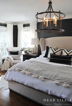 gray white and black bedroom homedecorbedroomideas master rh pinterest com