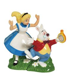 Take a look at this Alice & White Rabbit Salt & Pepper Shakers by Westland Giftware on #zulily today!