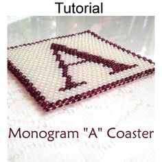 Monogram Coaster Collection A – Z Letters Home Decor Beading Pattern Tutorial Instructions | Simple Bead Patterns