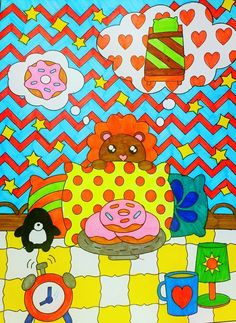 I Am Cute & Cute Sweets Coloring Books by Queenie Law - Colour with Claire Colouring Book Reviews