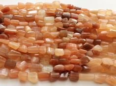Peach Moonstone Beads Peach Moonstone Fancy by gemsforjewels