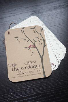 DIY Wedding Program by Serendipity & Spark: Inspiring Experiences, via Flickr