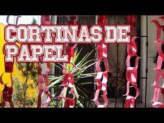 Cortinas de papel - Día de San Valentín // Strings of paper, Valentine's...
