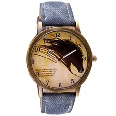 Newly Design Vintage Brief Painting Horse Watch Quartz Wrist Watches Aug27-in Fashion Watches from Watches on Aliexpress.com   Alibaba Group