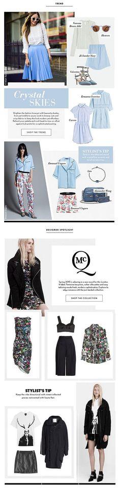 Shop the Trend: Crystalline Blues +++ Designer Spotlight McQ