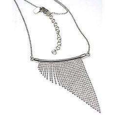 b2d554695c8a Gargantilla bolas y flecos diamantados de Plata Gargantillas De Moda