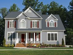 Best Grey House With Grey Standing Seam Roof And White Trim 400 x 300