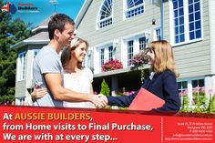We, at #AussieBuilders,  provide assistance at each and every step of #home purchase