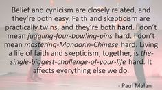Faith and Skepticism