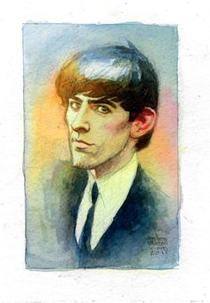Gently guitar weeps | George Exquisite Illustrations by Andrew Robinson