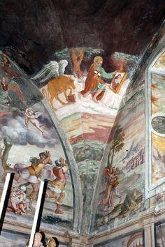 Giovan Battista Guarinoni - affreschi - 1577 circa - Cappella centrale - Chiesa San Michele al Pozzo bianco - Bergamo (Italia)