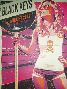 The BLACK KEYS Poster 8/14/12 Hannover Germany By Lars P Krause