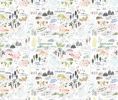 Wilderness Map fabric by katievernon on Spoonflower - custom fabric