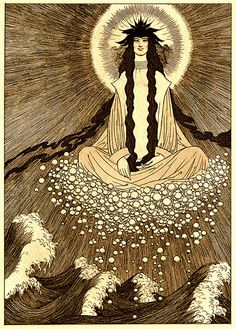 "Sidney Sime (English, 1867-1941). Slid. Illustration from Lord Dunsany's ""The Gods of Pegana,"" 1911."