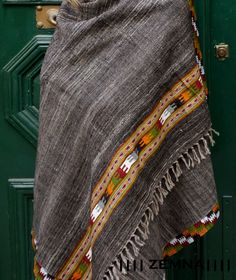 Hand - woven shawl with tribal designs, yak wool, hand-loomed wool, wraps shawls, blanket scarf, hippie shawl, tribal scarf, primitive by ZEMNA on Etsy https://www.etsy.com/listing/268057607/hand-woven-shawl-with-tribal-designs-yak