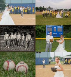 Baseball Themed Wedding Pictures www.586eventgroup.com