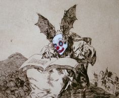 """4 Reinterpreting the Past Goya's """"The Disasters of War"""", appropiated by the Chapman Brothers: """"Insult to Injury"""", 2003 Jake & Dinos Chapman Francisco Goya, Art And Illustration, Clowns, Jake And Dinos Chapman, Gouache, Exquisite Corpse, Spanish Artists, English Artists, Fantasy Fiction"""