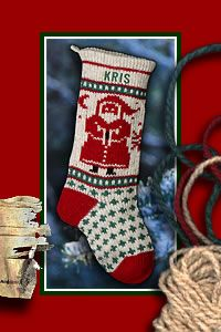 Handmade Personalized Christmas Stockings knitted with embroidered names add old fashioned charm. Annie's Woolens personalized stockings are individually knit with 100% wool for an old fashioned Christmas Holiday Keepsake.