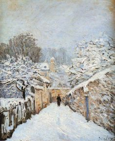 Alfred Sisley, Winter at Louveciennes, 1878