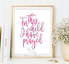 Printable Nursery decor For this child I by LittleEmmasFlowers